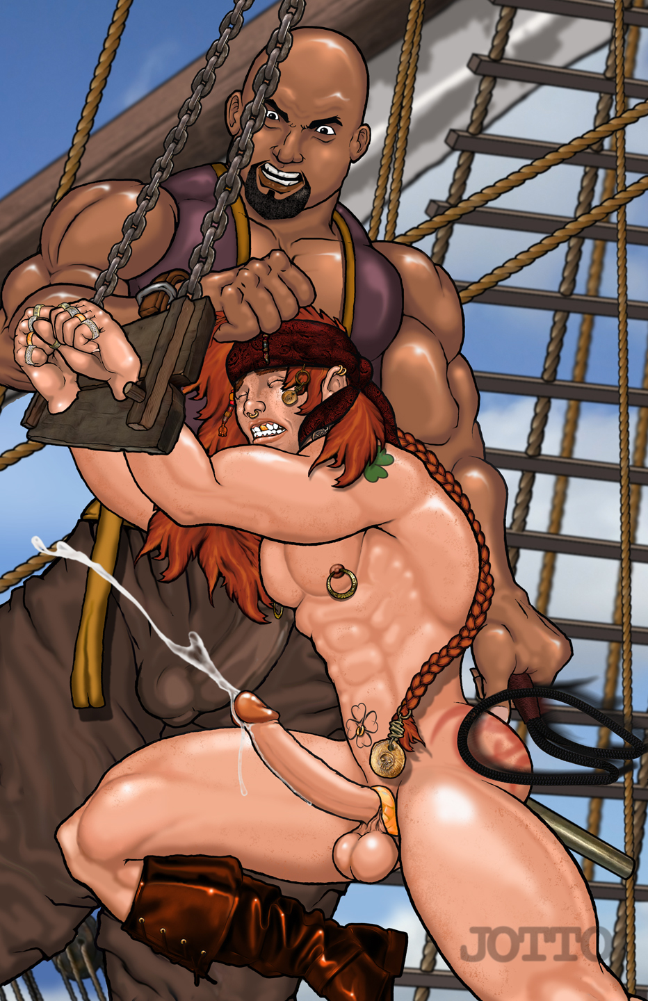 Sexy girl pirates naked porncraft video